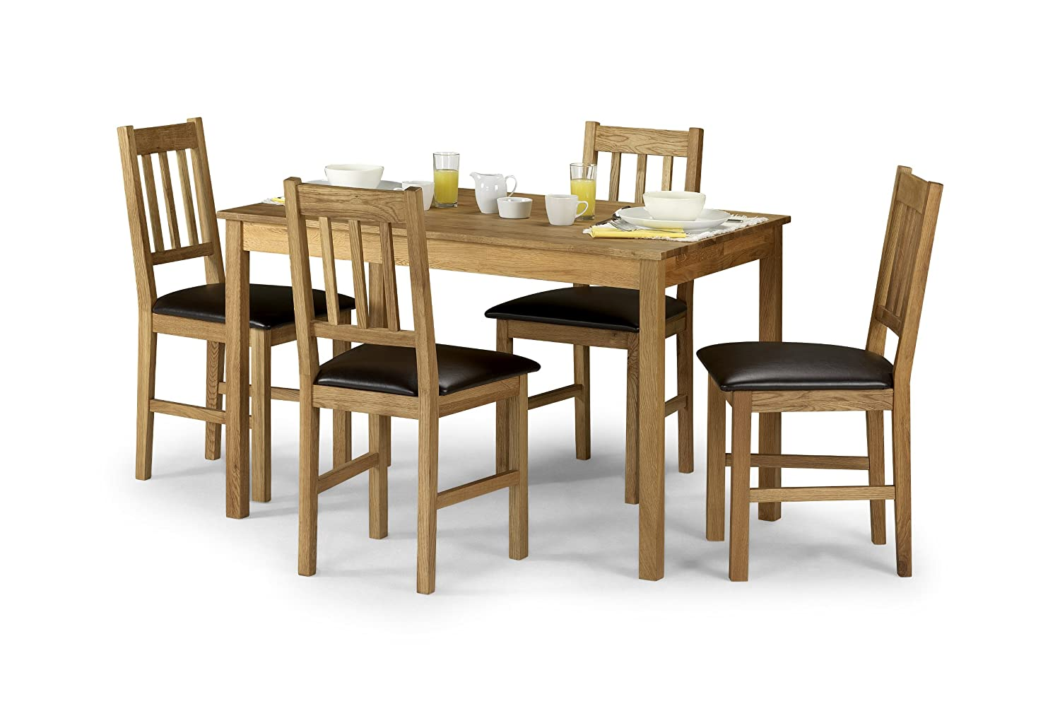 Julian Bowen Coxmoor Solid Oak Rectangular Dining Table Amazoncouk Kitchen Home