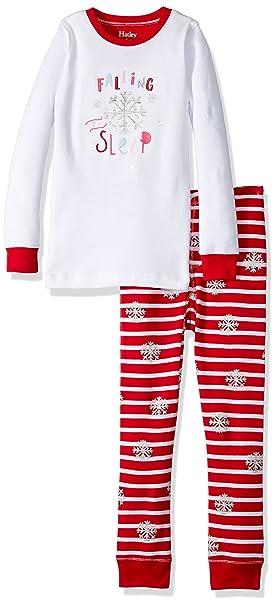 Hatley Long Sleeve Waffle Appliqué Pyjama Sets, Conjuntos de Pijama para Niñas, Blanco (
