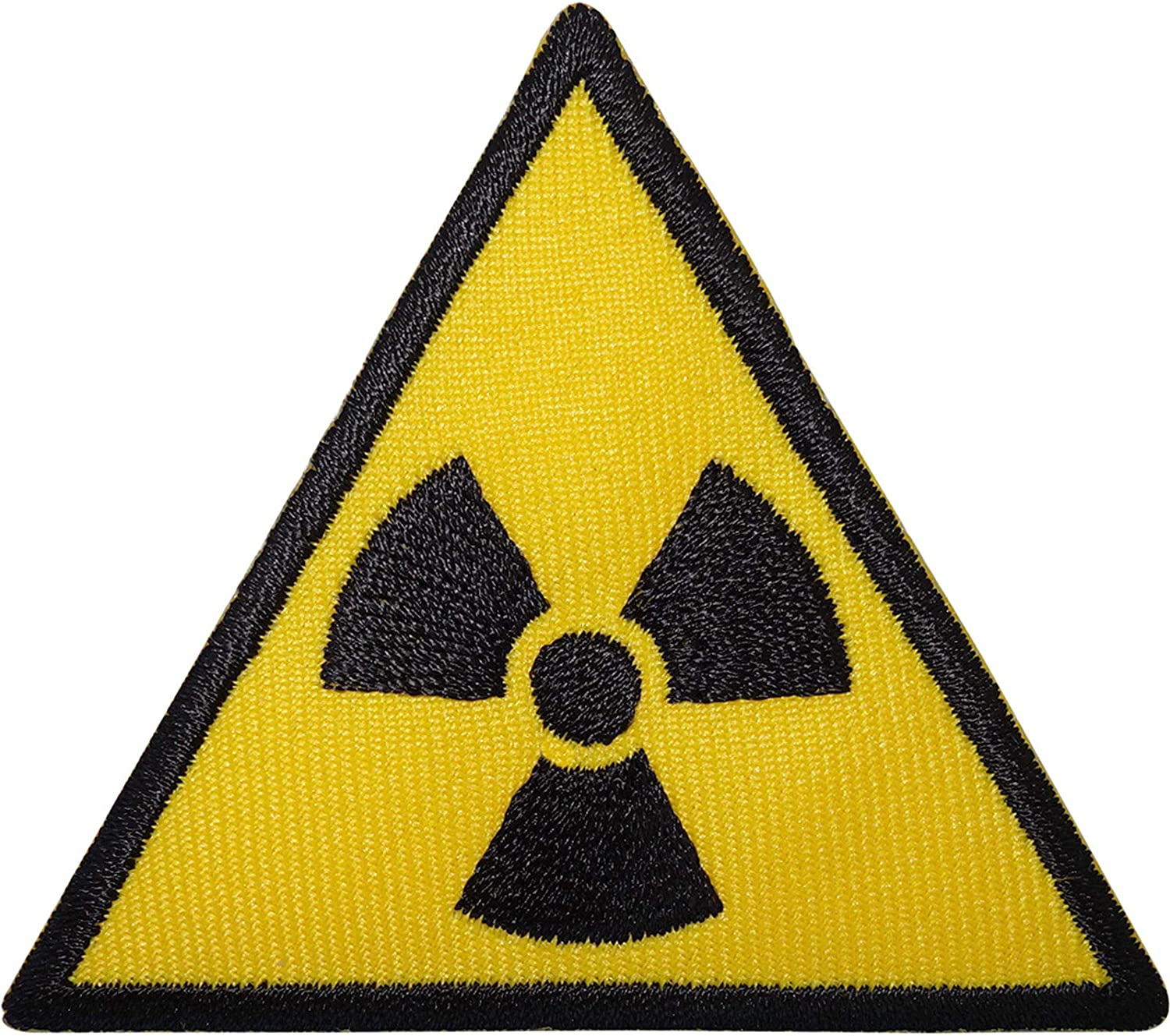 Radioactive Sign Embroidered Iron Minneapolis Mall Sew Patch On Radiation Symbol Deluxe