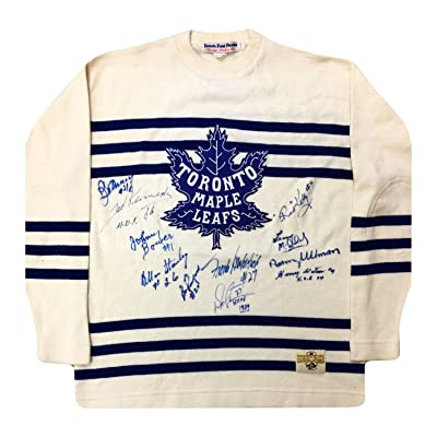 cheaper 1ee7c 3513f Autographed Toronto Maple Leafs Vintage Wool Jersey - 11 ...