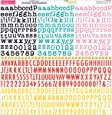 "Tiny Text Cardstock Alphabet Stickers 12""X12""-Bold & Beautiful"