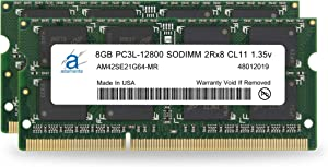 Adamanta 16GB (2x8GB) Laptop Memory Upgrade DDR3/DDR3L 1600Mhz PC3L-12800 SODIMM 2Rx8 CL11 1.35v Notebook RAM DRAM