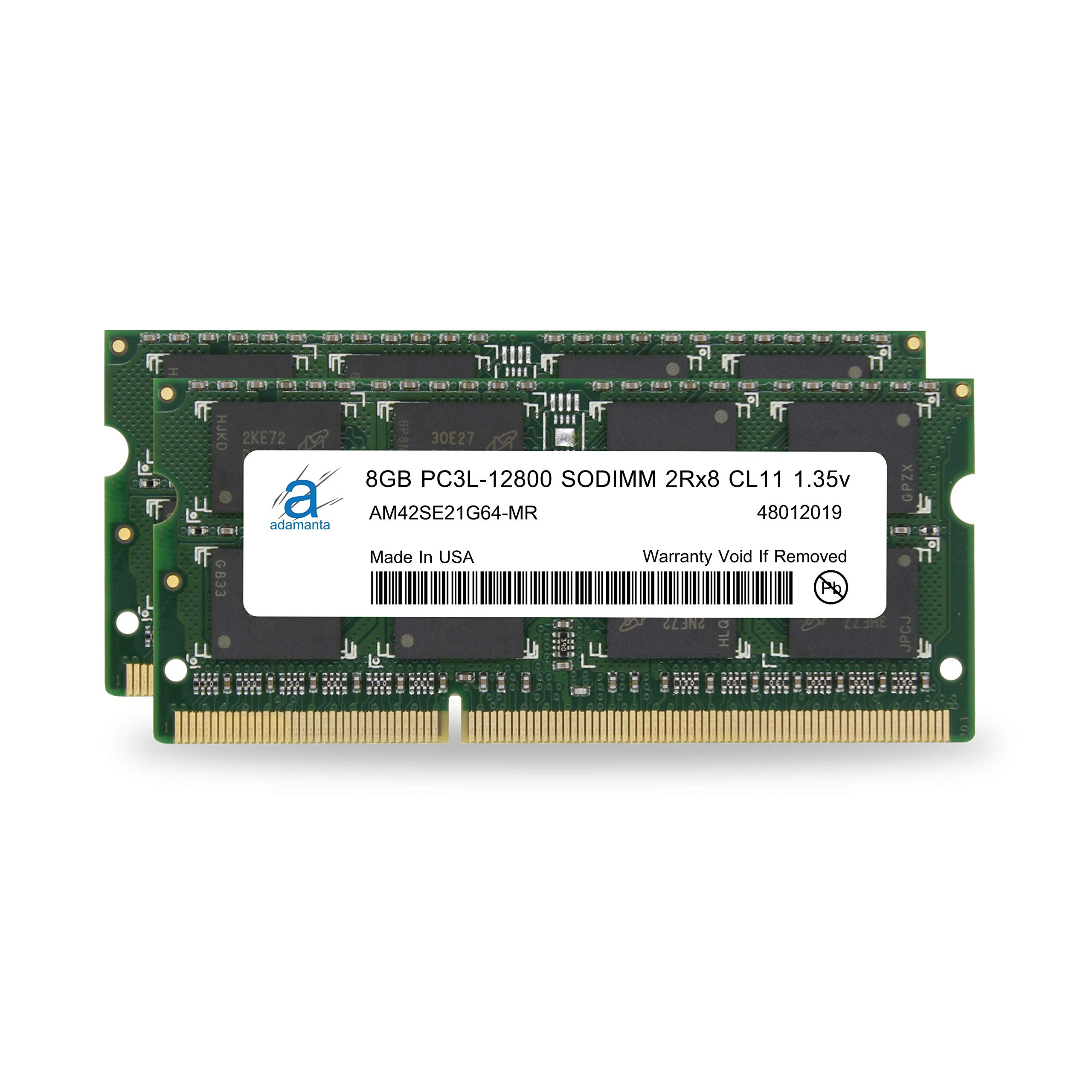 Adamanta 16GB (2x8GB) Apple Memory Upgrade Compatible for iMac, MacBook Pro, Mac Mini DDR3/DDR3L 1600Mhz PC3L-12800 SODIMM 2Rx8 CL11 1.35v RAM by Adamanta