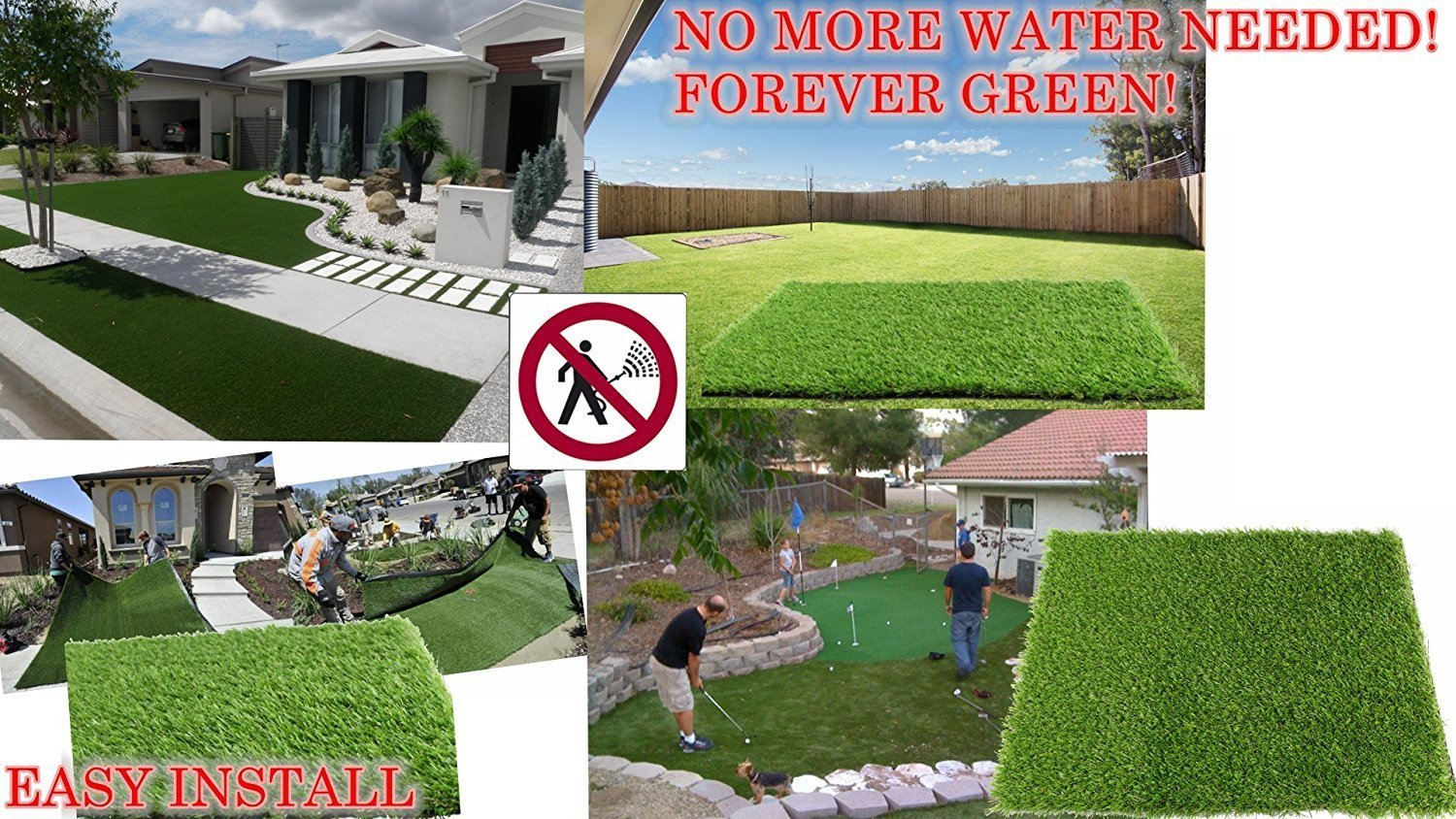 ALTRUISTIC Premium Realistic Artificial Grass in Many Sizes (7 ft X 13 ft = 91 square ft)