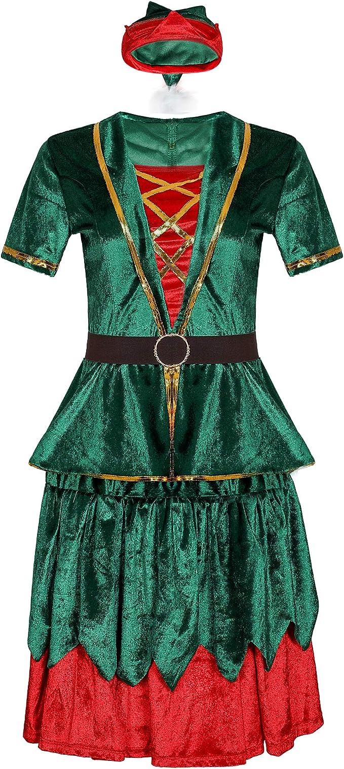 Disfraz de Duende navideño para Pareja Vestido de Duende de Santa ...