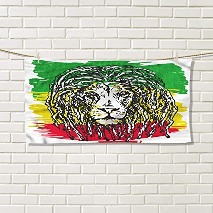 879d9d91f1 Amazon.com  Rasta floral hand towels Ethiopian African Culture Hair ...