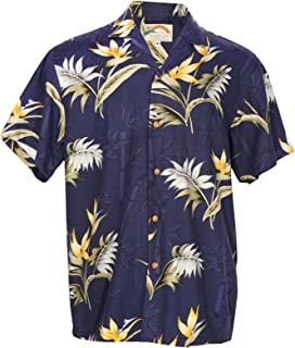 product image for Aloha Bamboo Paradise - Men's Hawaiian Print Aloha Shirt - in Navy