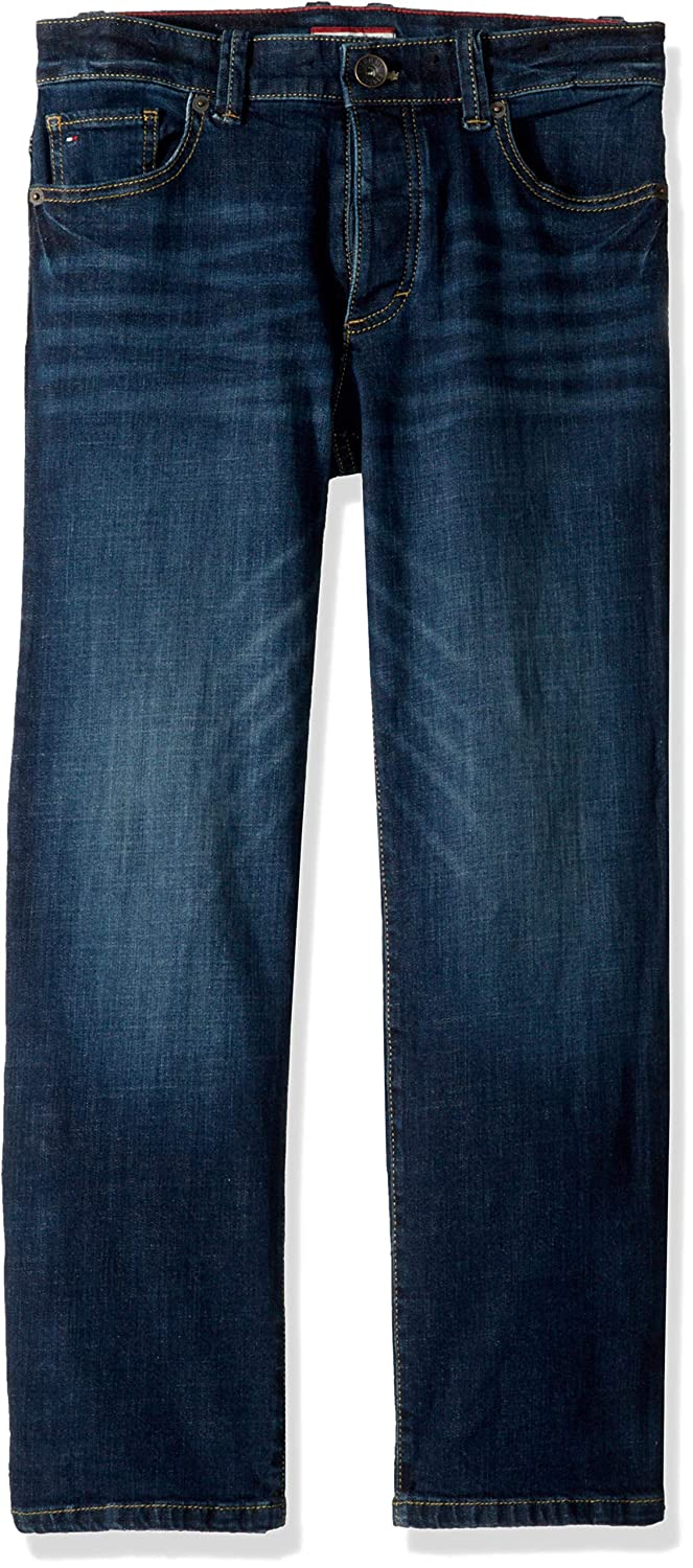 Tommy Hilfiger Boys Big Adaptive Jeans Relaxed Fit with Magnet Buttons