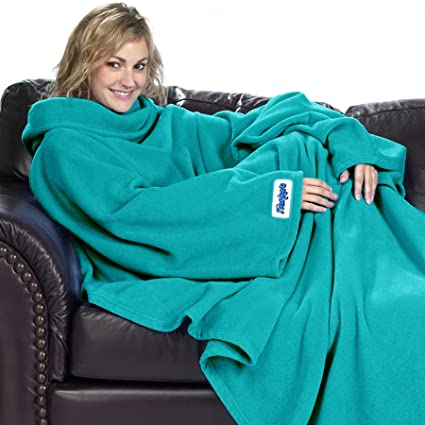 a0ee9d784a Ultimate Slanket - Teal Sleeved blanket with Sleeves  Amazon.co.uk  Kitchen    Home