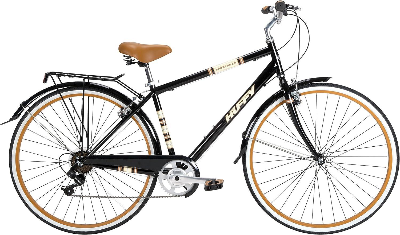 Huffy Bicycle Company 26765 - Bicicleta Deportiva para Hombre, 700 cm, Color Negro Brillante: Amazon.es: Deportes y aire libre