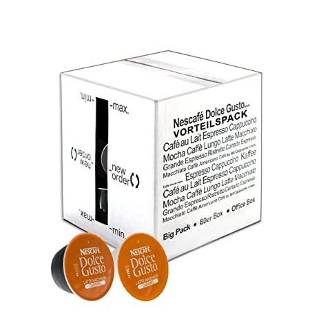 80 x Nescafé Dolce Gusto Caramel Latte Macchiato, Cápsulas de Café con Caramelo (40