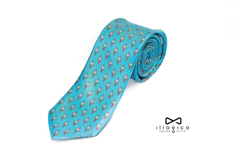 illogico - Corbata - para hombre Azul azul celeste Talla única ...