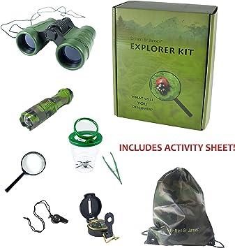Kit de Explorador Externo Britten y James de 3 a 10 años. Ayude a los niños a Descubrir la Naturaleza con Este Set de Aventuras de Primera Calidad: Divertido y Educativo.: Amazon.es: