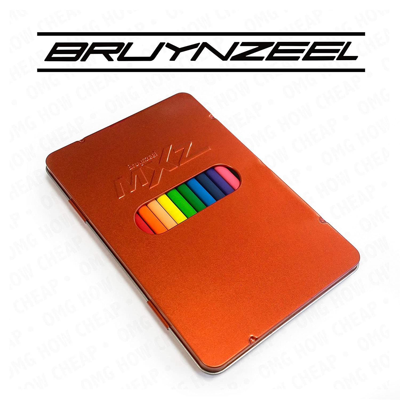 Bruynzeel MXZ - 12 Triangular Colouring Pencils in Burnt arancia Metal Tin