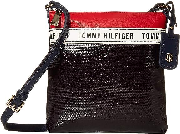 Tommy Hilfiger Julia Coated Canvas Crossbody Navy/Red/White One Size: Handbags: Amazon.com