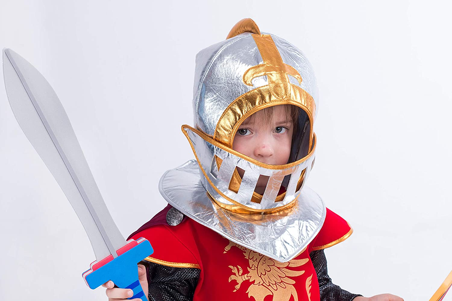 Spooktacular Creations Medieval Knight Costume Deluxe Set for Boys Halloween Party Dress Up,Role Play and Cosplay