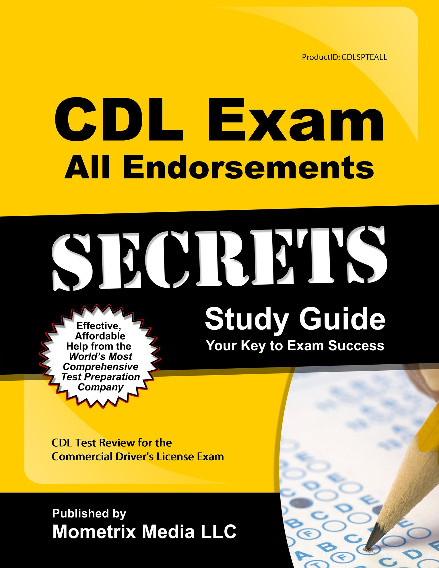 CDL Exam Secrets & CDL Practice Test & All CDL Endorsements Study Guide: CDL  Test Review for the Commercial Driver's License Exam: 9781610736107: ...