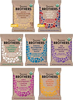 product image for Bearded Brothers Vegan Organic Energy Bar | Gluten Free, Paleo and Whole 30 | Soy Free, Non GMO, Low Glycemic, Packed with Protein, Fiber + Whole Foods | 7 Flavor Variety Pack | 7 Pack