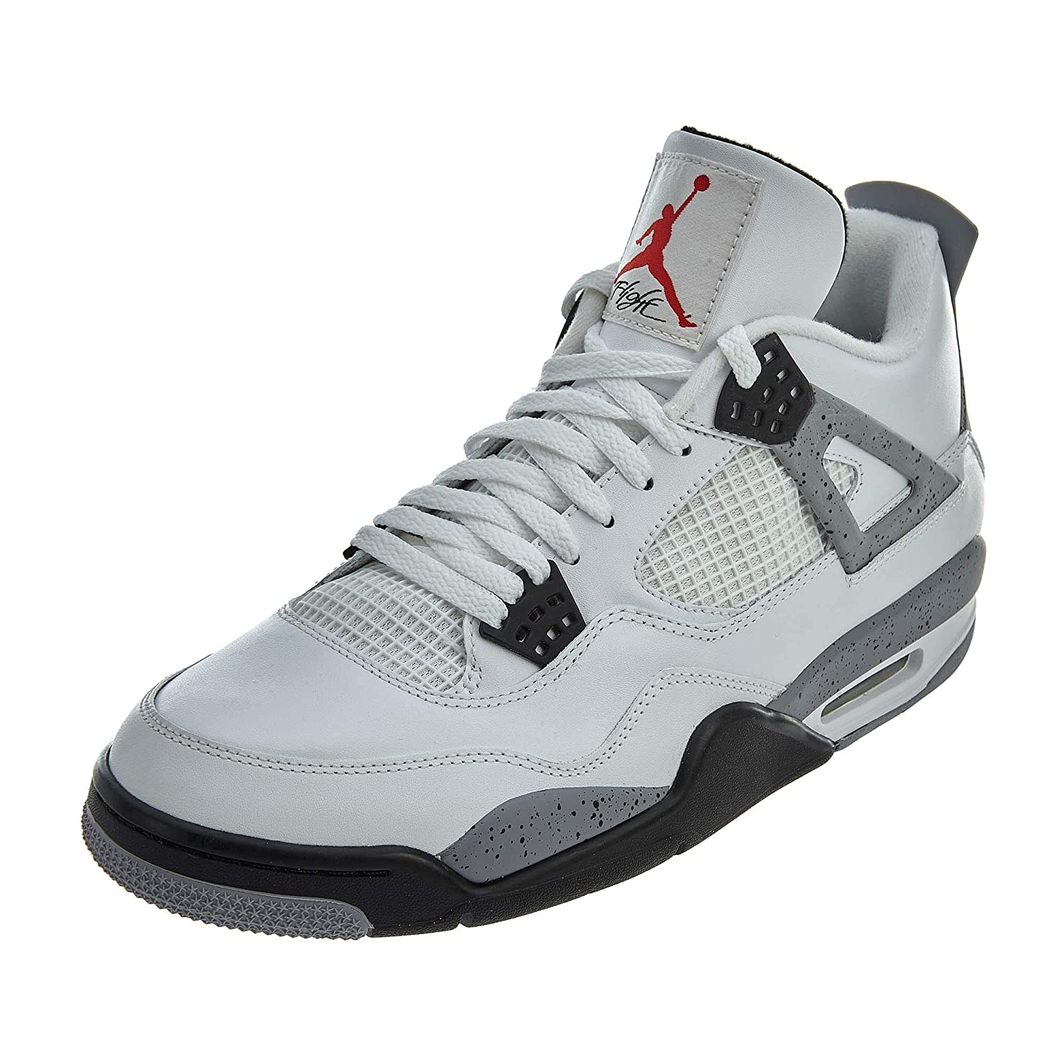 promo code 73437 acdb1 Amazon.com   Nike Air Jordan Iv Retro White Cement (308497-103) (Mens us9)    Basketball