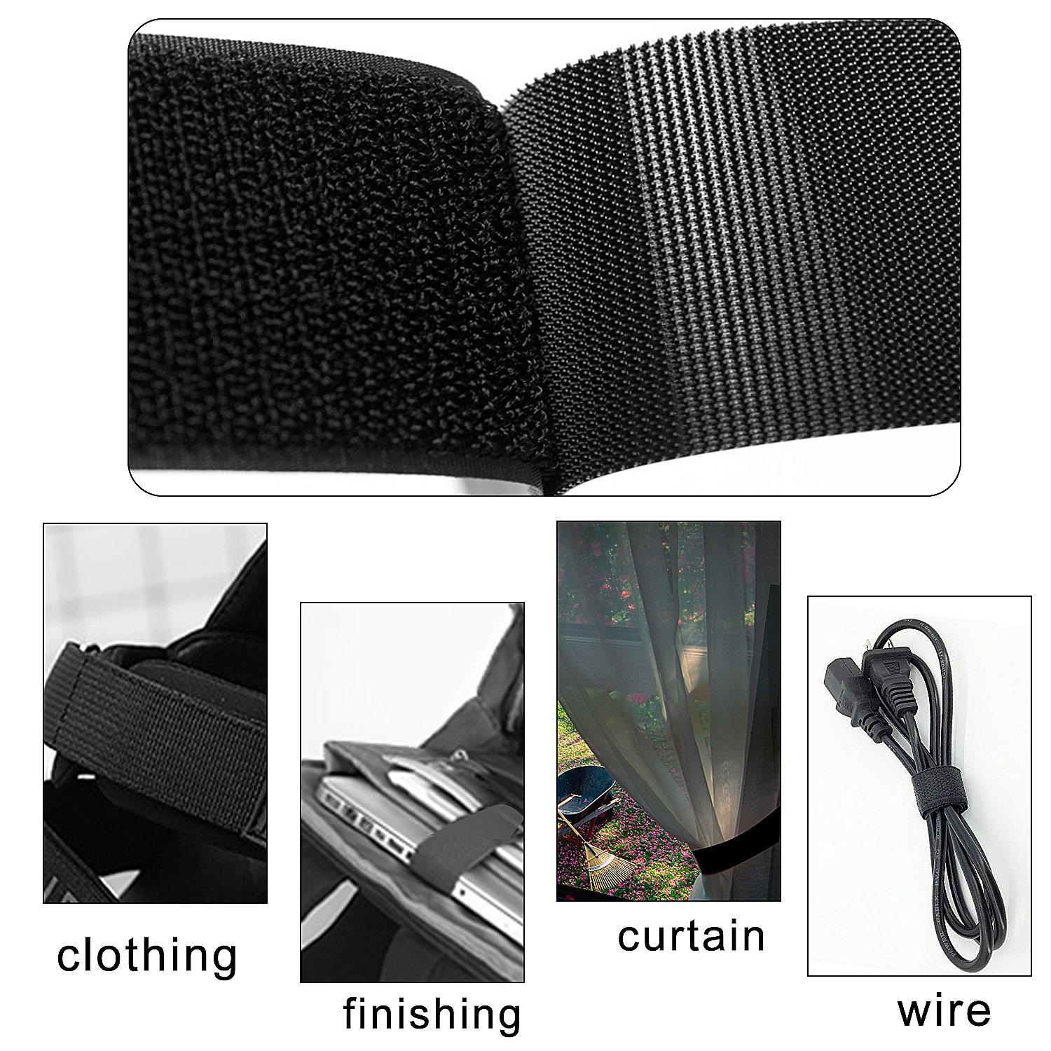 Outee 100 Pcs Cable Straps Cable Ties Reusable 11//6//5 Inch Fastening Wire Organizer Cord Management for Home Office