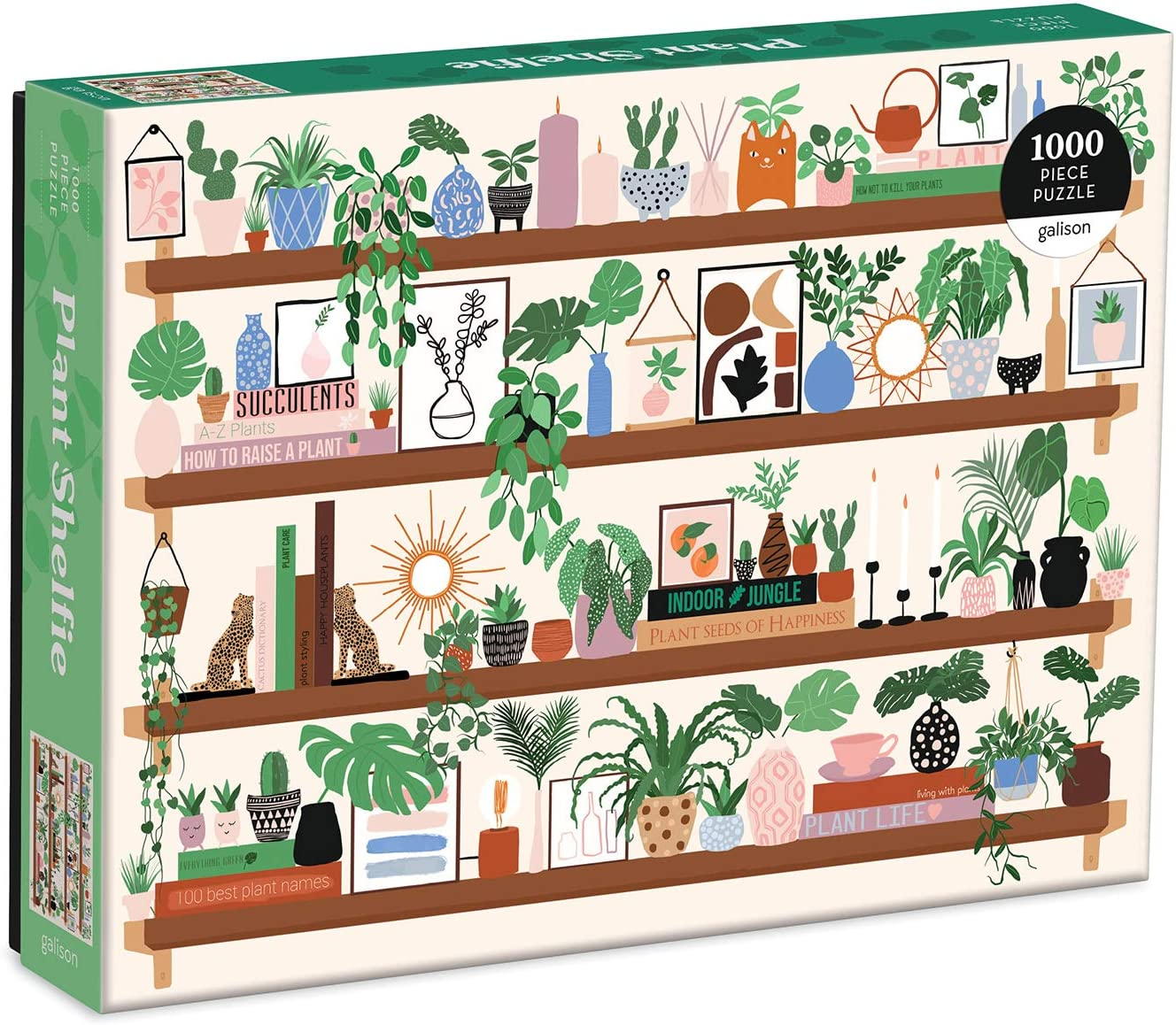 "Amazon.com: Galison Plant Shelfie Jigsaw Puzzle, 1,000 Pieces, 27"" x 20"" –  Plant Jigsaw Puzzle with Stunning Artwork by Francis Penwill, Thick, Sturdy  Pieces, Challenging Family Activity, Great Gift Idea: Toys & Games"