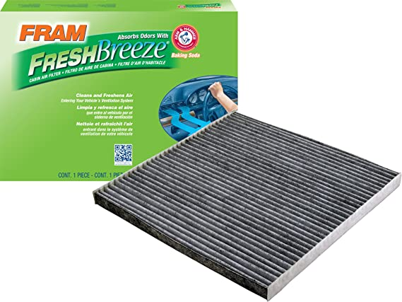 FRAM CF11173 Fresh Breeze Cabin Air Filter with Arm & Hammer