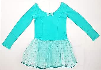 فستان باليه للبنات لون تركواز أزرق