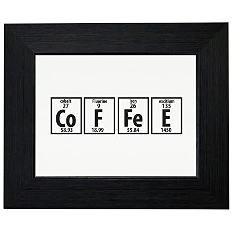 Amazon coffee periodic table funny chemistry science framed coffee periodic table funny chemistry science framed print poster wall or desk mount options urtaz Image collections