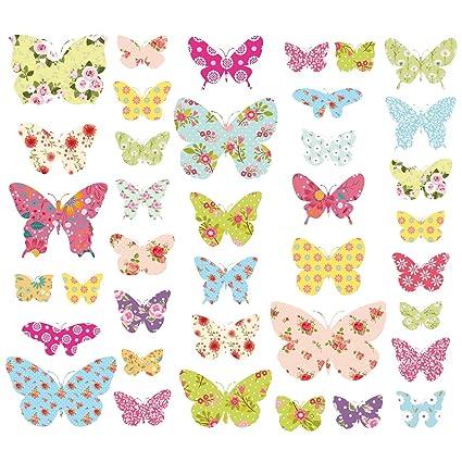 Decowall Dw 1408 Mariposas Con Dibujos Vinilo Pegatinas Decorativas