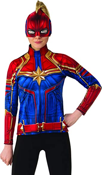 Amazon Com Rubie S Costume Co Women S Captain Marvel Hero Top And Headpiece Clothing About 3% of these are tv & movie costumes, 0% are women's trousers & pants, and 0% are zentai / catsuit. rubie s costume co women s captain marvel hero top and headpiece