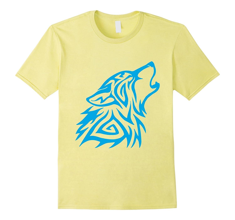 Cyan Fenrir Wolf Howl Odin T Shirt Nordic Valhalla Mjolnir-TH
