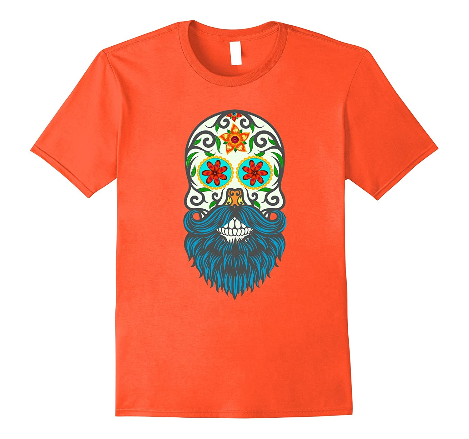 89a9459e4 Day of the Dead Sugar Skull Beard T-shirt-ANZ ⋆ Anztshirt