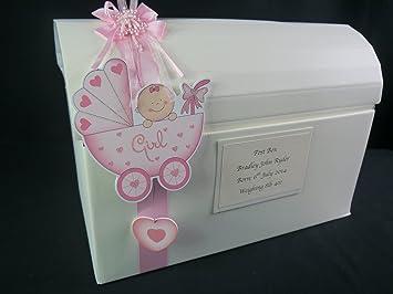 Bebé bautizo buzón de correos, nombres de bebé o ducha, personalizado: Amazon.es: Oficina y papelería