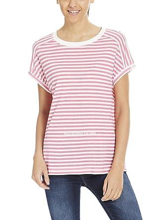 Whi rosada las raya banco impresión mujeres Camiseta de Chateau la Rose de del camiseta la de Snow wqP1fFaA
