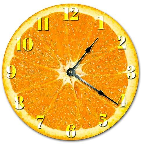 Wall Clock Decorative Round Wall Clock Home Decor Novelty Clock ORANGE