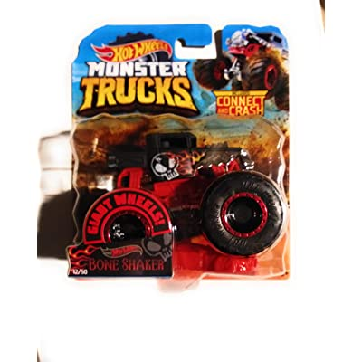 HW 2020 Monster Trucks Bone Shaker Connect and Crash Car Included 1:64 Scale: Kitchen & Dining