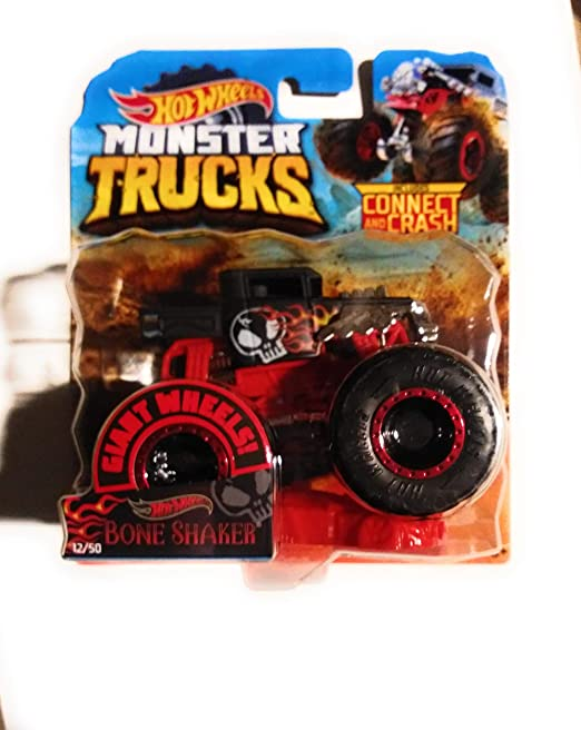 Amazon Com Hw 2019 Monster Trucks Bone Shaker Connect And Crash Car Included 1 64 Scale Kitchen Dining