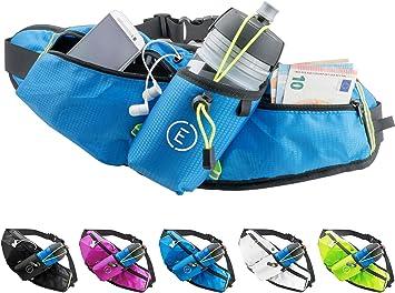 Echelon Line Bolsa Riñonera Deportivo Cinturones de Hidratación Botella Cangurera para Running Jogging Correr Gimnasia Fitness - Bolsillo Cintura Smartphone Teléfono Móvil Celular (Azul): Amazon.es: Deportes y aire libre