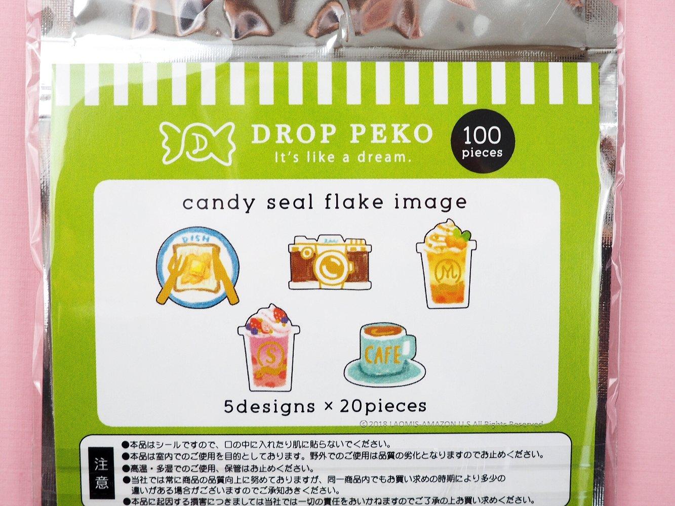 Break Time 05583 Kamio Japan Japanese Drop Peko Mini Stickers // Pack of 100