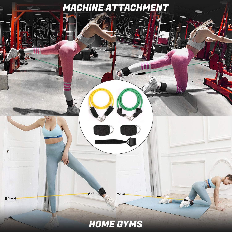 Yoga Bandes dexercice Durable avec Band Circle Odoland Bandes de R/ésistance /élastique Gym Entra/înement Bandes de Hanche Core Sliders pour Fitness Pilates