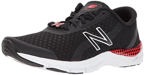 on sale f865b fca86 New Balance Women s 711v3 Disney Cross Trainer, Black White red dots, 5