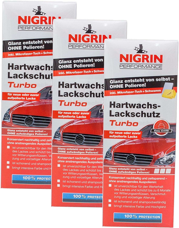Nigrin 3x 72962 Performance Hartwachs Lackschutz Turbo 500 Ml Auto