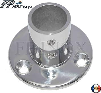 platine inox 316 A4 Support Tube Ø 25mm