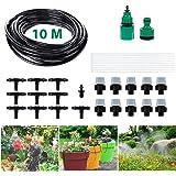 Micro Drip Bewässerung Kit, Migimi DIY Bewässerungssystem automatische Bewässerung automatische Sprinkler für Garten, Landschaft, Flower Bed, Terrasse Pflanzen - 10m Automatik Micro Drip Kit