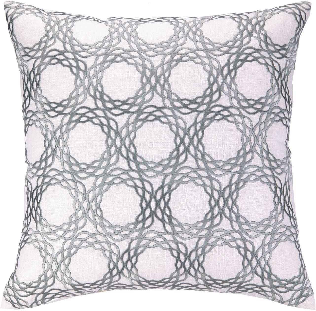 Cococozy Oxford Embroidery Linen Pillow Black