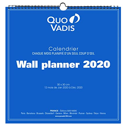 Calendrier Barcelone 2020.Quo Vadis 238310q Calendrier Wall Planner Annee 2020 30 X 30 Cm