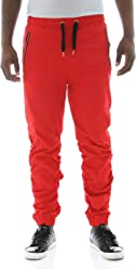 Switch Remarkable Mens Shirred Detail Twill Jogger Pants