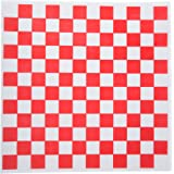 Checkered Deli Basket Liner, 12 X 12 Inches, Red and White, 100 Count