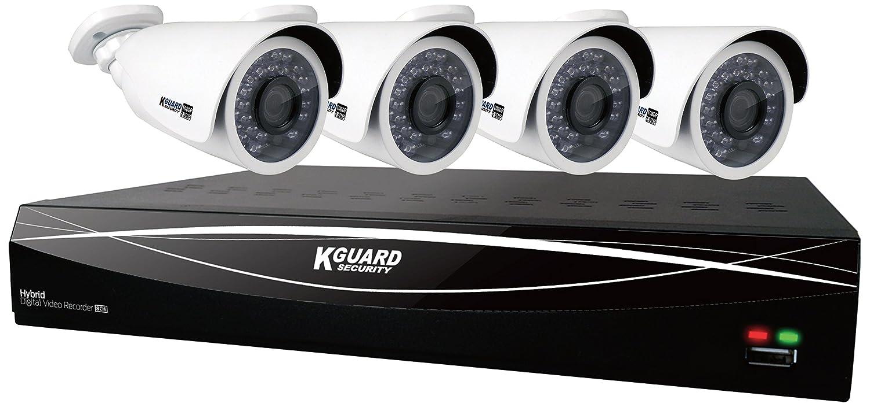 KEIAN KGuard Security 防犯ビデオレコーダー 8チャンネル4カメラセット HDD2TB内蔵 スマホで監視可能 HD881-4WA813F B077F428Q9