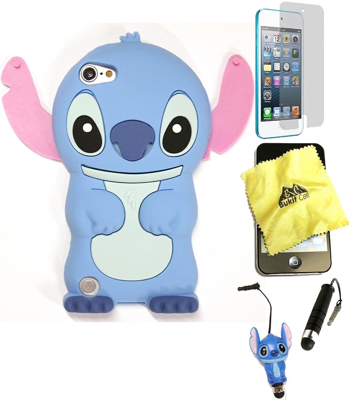 Amazon.com: Bukit Cell Bundle: BLUE 3D Cute StitchSilicone Fun ...